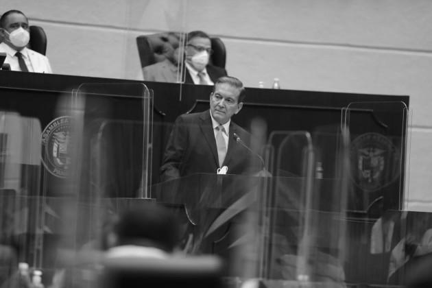 El presidente de la República, Laurentino Cortizo Cohen, presentó el 1 de julio, ante la Asamblea Nacional, el informe de su primer año de gestión. Foto Cortesía.