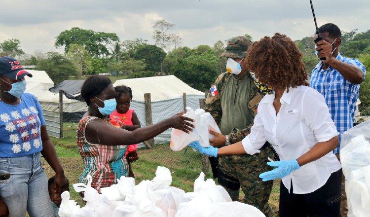 Ministerio de Gobierno y otras entidades panameñas también apoyan a los migrantes y refugiados que están en albergues temporales. Cortesía