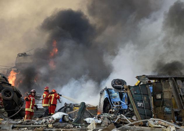 Imagen de video grabada con un teléfono móvil del momento de la explosión. Fotos:EFE.