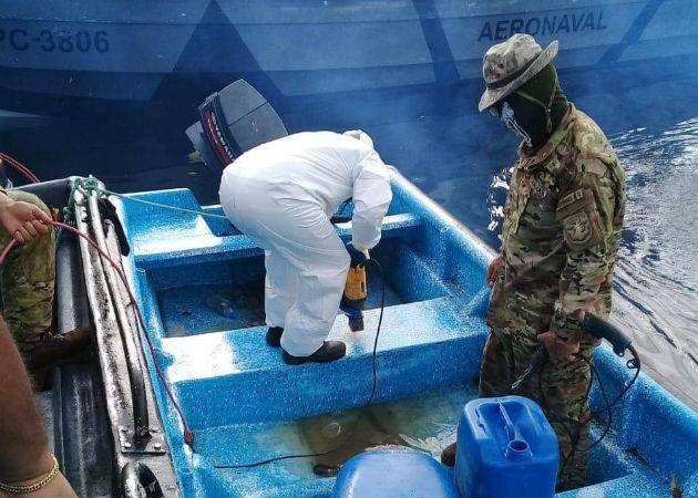 El Senan intercepta embarcación con droga en la Costa Arriba de Colón
