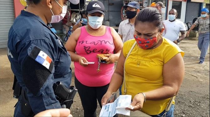 Cerco sanitario de La Espiga, en La Chorrera.