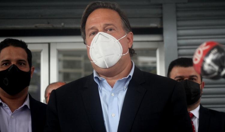 Juan Carlos Varela, en una de sus comparecencias por el caso Odebrecht. Víctor Arosemena