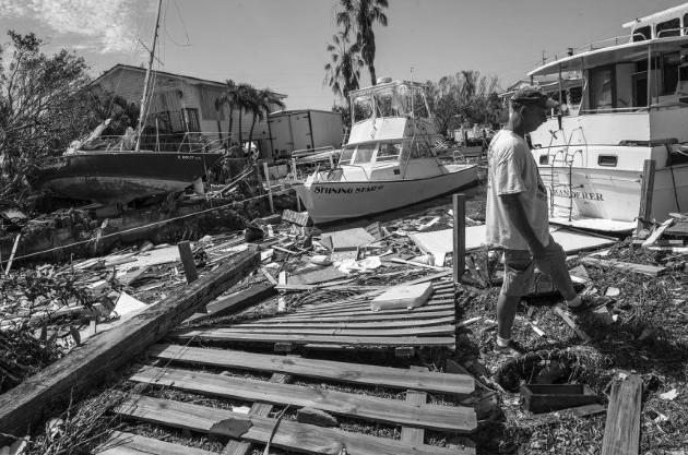 Imágenes de las secuelas dejadas por el huracán Irma, que azotó Puerto Rico en septiembre de 2017. Foto: EFE.