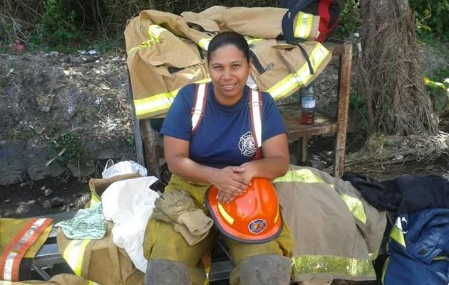 Matilde Torres, subcomandante del Cuerpo de Bomberos