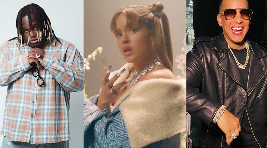 Sech, Rosalia y Daddy Yankee. EFE/Instagram