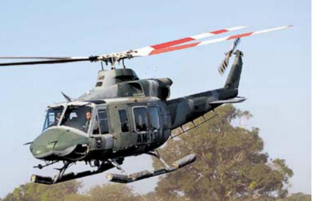 Un helicóptero del Senan colabora con la búsqueda del presunto cabecilla. Fotos: Archivo.