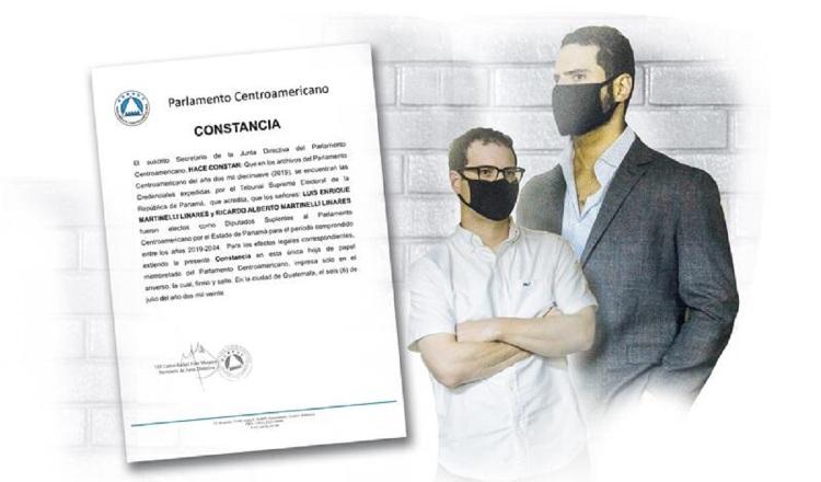 Diputados del Parlamento Centroamericano, Ricardo Alberto y Luis Enrique Martinelli Linares, fueron reconocidos como parlamentarios.