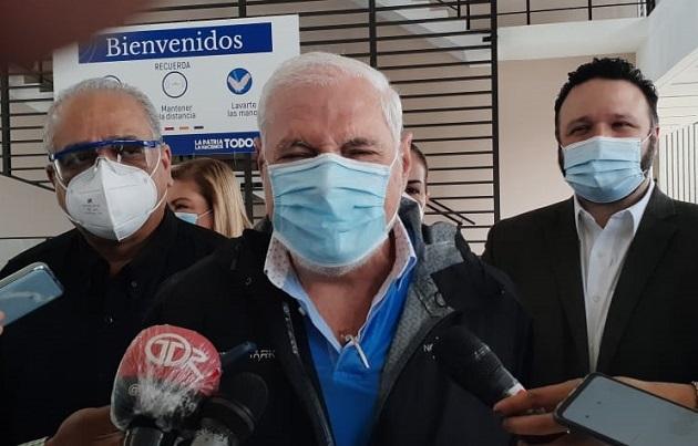 El expresidente Ricardo Martinelli lidera el partido político Realizando Metas. Foto Víctor Arosemena