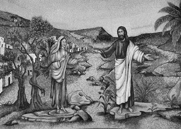 Su alma estaba vacía, triste, adolorida, marchita. Y se encontró con Jesús, de casualidad. Foto: EFE.