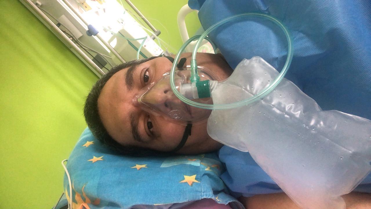 Jorge Espino estuvo 30 días en el hospital afectado por el coronavirus.