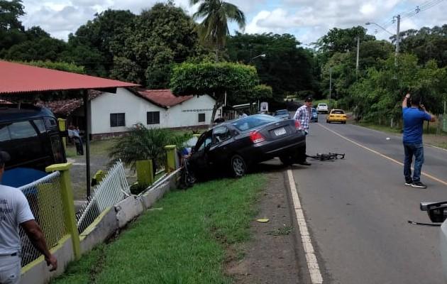 Accidente se registró en el Carate de Las Tablas