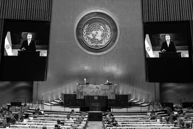 Por primera vez en los 75 años de la ONU, los líderes no se verán las caras sino en una sucesión de discursos pregrabados. O sea, más alejados, más distanciados, más desunidos que nunca. Foto: EFE.