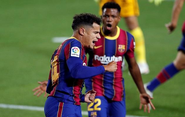 Coutinho marcó por el Barcelona.