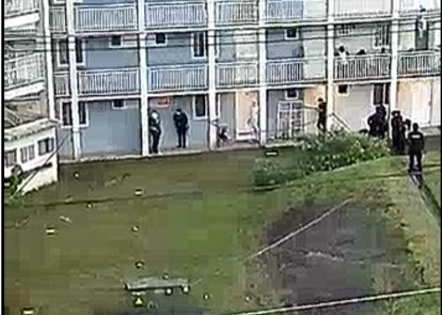 El trágico suceso se se escenificó en la torre L 46, apartamento de N° 0E. Foto: Diómedes Sánchez S.