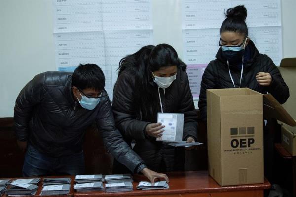 El triunfo electoral en Bolivia se logra con el 50% más uno de los votos, o con un 40 y al menos diez puntos de diferencia con el segundo. Foto: EFE