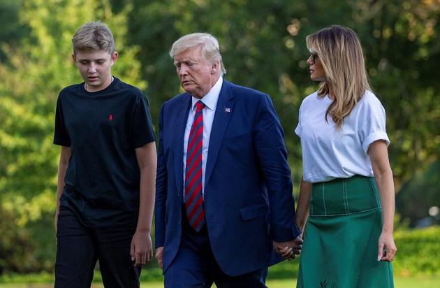 Melania Trump tenía previsto participar junto a su marido, el presidente Donald Trump, en un mitin este martes en la localidad de Erie. Foto: EFE