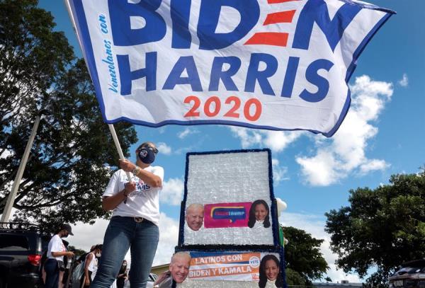 La División de Elecciones de Florida informó de que ya son más de 4.7 millones los floridanos que han votado cuando faltan 11 días para las elecciones. Foto: EFE