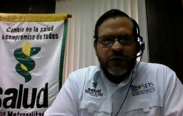 Israel Cedeño, director de la Región Metropolitana de Salud.