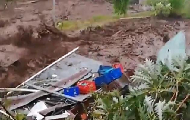 Las fuertes lluvias han causado estragos en Chiriquí.