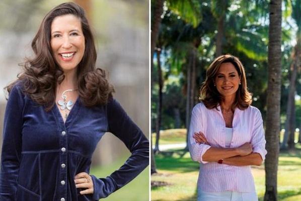 Las nuevas congresistas la demócrata Teresa Leger Fernández (i), que representará al distrito 3 de Nuevo México, y a la republicana María Elvira Salazar, que representará al distrito 27 de Florida. Foto: EFE