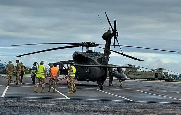 Los helicópteros estadounidenses salen desde el aeropuerto internacional de David. Foto: Mayra Madrid