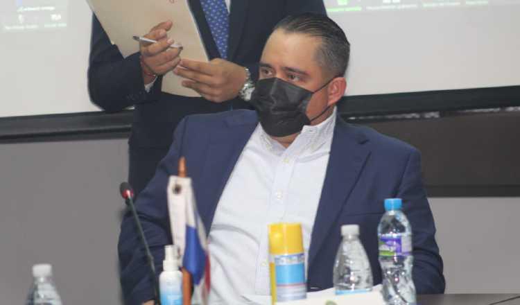 Marcos Castillero, presidente de la Asamblea Nacional, durante la sustentación del crédito extraordinario. Archivo