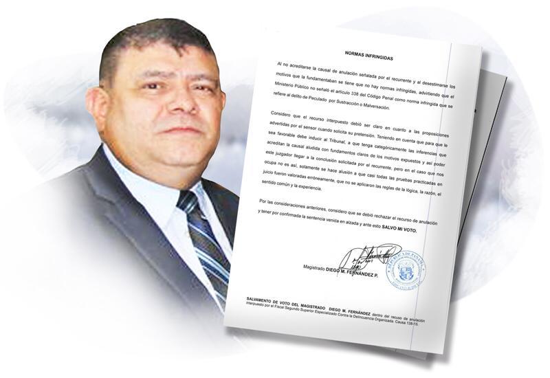 Diego Fernández, magistrado presidente del Tribunal de Apelaciones.