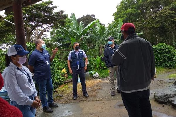 Durante el operativo contra el trabajo infantil, se visitaron seis fincas dedicadas a la producción de café y la actividad agrícola.