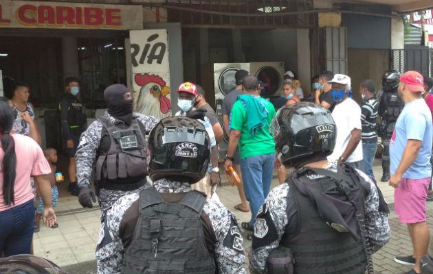 Los detenidos fueron llevados al Juez de Paz. Foto: Diómedes Sánchez S.