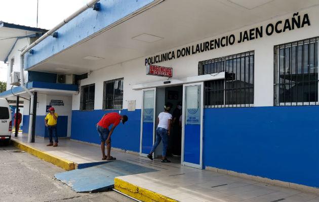 La víctima fue llevada a la Policlínica de Sabanitas, donde falleció. Foto: Diómedes Sánchez S.