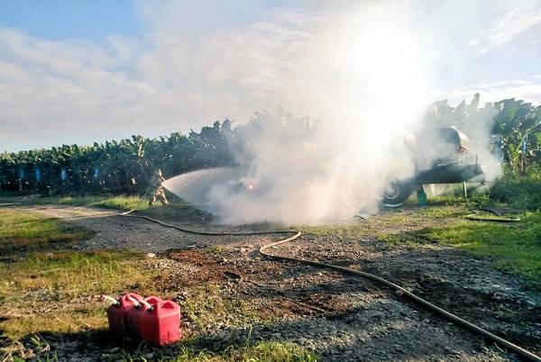 Extraoficialmente se informó que la condición del piloto es crítica debido a las quemaduras que sufrió durante el accidente. Foto: @BCBRP