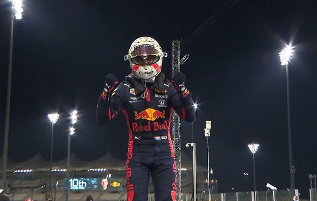 Max Verstappen celebra su victoria.