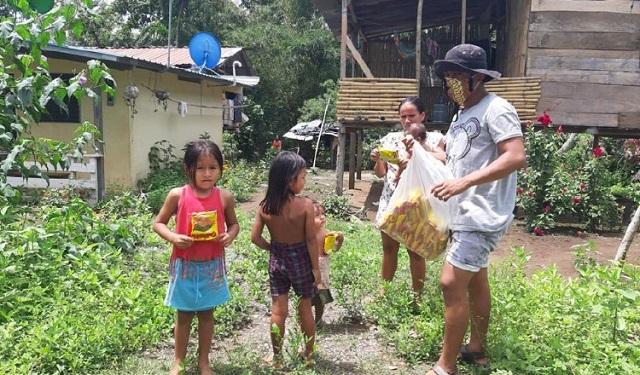 Los habitantes de la comunidad emberá Ipetí participaron el año pasado en la hazaña del patacón más grande del mundo. Foto: Cortesía