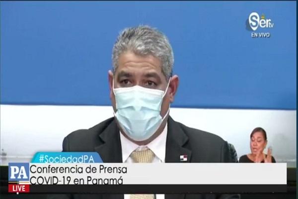 El ministro de Salud, Luis Francisco Sucre, informó sobre las nuevas medidas.