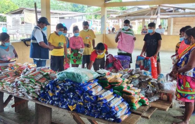Autoridades locales comarcales piden apoyo gubernamental y de las ONG para los desplazados. Foto: Cortesía.
