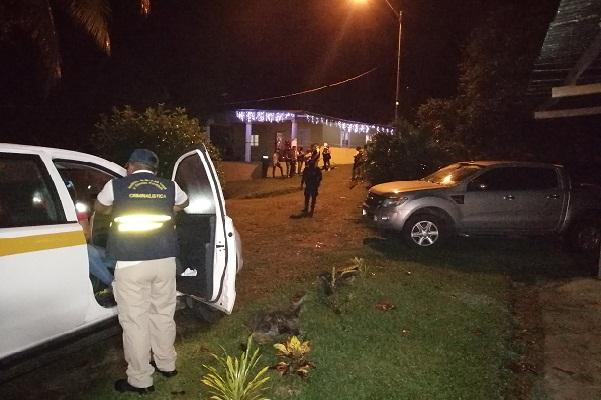 El episodio se registró en una apartada zona del corregimiento de Santa Clara, identificada como Loma Blanca en el distrito de Arraiján, provincia de Panamá Oeste.