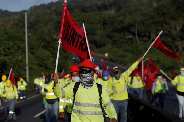 El Suntracs ha realizado varios cierres de calles pidiendo derogación del decreto.