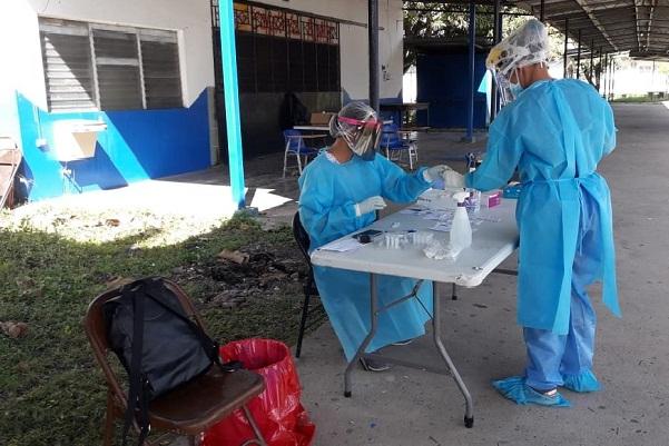 El Ministerio de Salud, detalla que los hisopados acumulados están por el orden de los 55,136.
