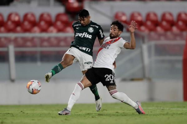 Imagen de un partido de la semifinal de la Copa Libertadores, entre el Palmeiras brasilero y el River Plate de Argentina. Foto/EFE