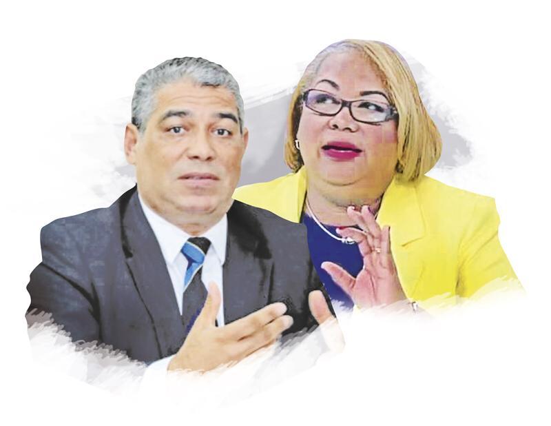 Ministro del Minsa, Luis Francisco Sucre, y la coordinadora nacional del Programa Ampliado de Inmunización, Itzel Slocum de Hewitt