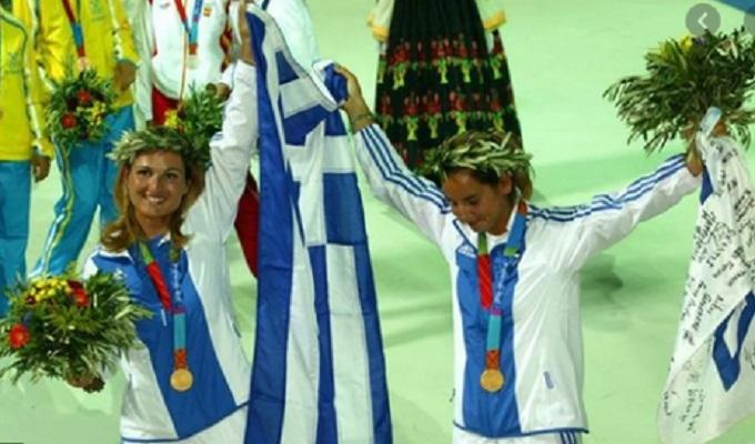 Sofía Bekatoru (izq.) campeona olímpica. Foto:Tomada de la Sexta.