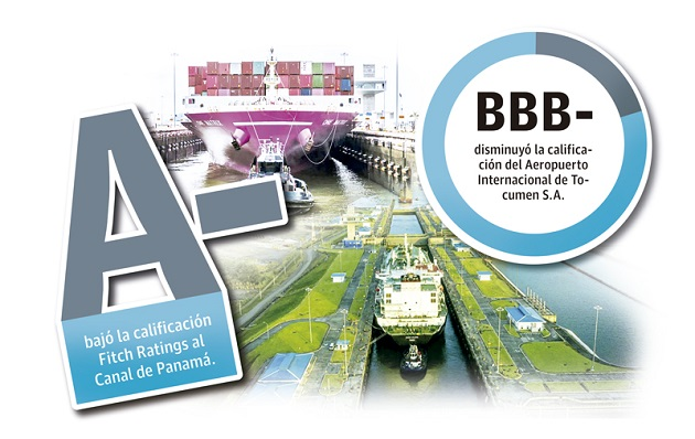 En el caso del Canal de Panamá, la calificación fue degradada de AA a A- con perspectiva negativa.