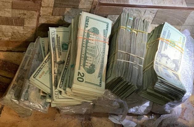 Más de 121 dólares fueron decomisados en el operativo del pasado 9 de febrero en Boca la Caja.