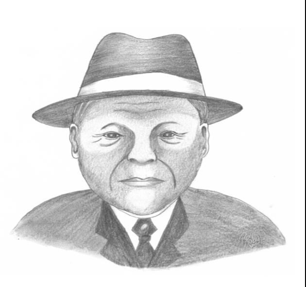 Retrato del cacique Inanaginya, quien luchó por el bienestar y el engrandecimiento de la comarca. El poeta y escritor norteamericano James Stanley Gilbert, en sus versos, dijo: