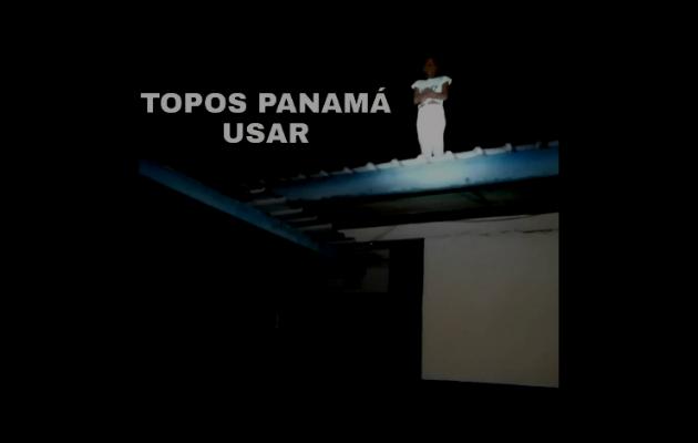 Rescatan a menor del techo de un colegio en Tocumen. Foto cortesía: Topos Panamá