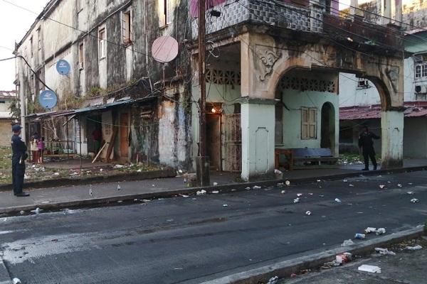 Debido al ataque contra el auto de investigación policial, se realizaron operativos en el área.