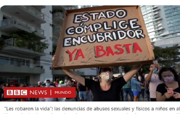 BBC relata la dura situación que vivieron menores panameños.