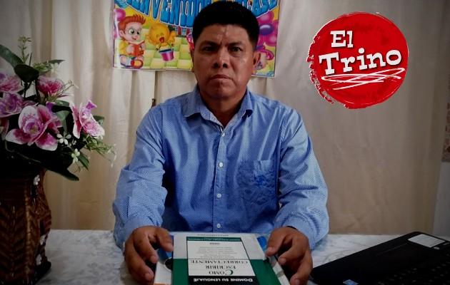 Con 30 años de experiencia, el maestro Tereso Urriola ratifica la necesidad de volver a las aulas. Foto:Cortesía