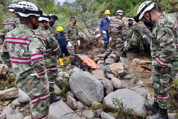 Rescate del cuerpo de la cónsul de Panamá en Bogotá, Telma Barria Pinzón. EFE