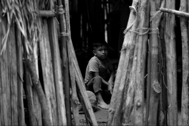 En la Comarca Ngäbe-Buglé la pobreza alcanza al 95.4% de los niños, niñas y adolescentes. Foto: Cortesía.